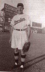 Jerry Witte Models Late 1950 Buffs Uniform Shorts.