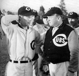 """Are you ready to win another big pennant for the Cubs, Ike?"""
