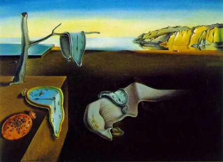 "Part One of the ""Persistence of Time"" Series by Salvador Dali."