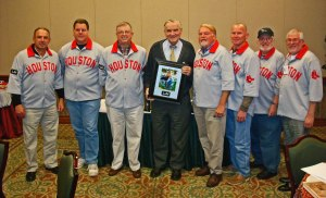(L->R) Garry Gaetti, Larry Hajduk, Bob Dorrill. Larry Miggins, Mike McCroskey. Mark Hudec, Bill McCurdy, Bob Stevens.
