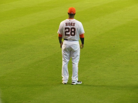 L.J. HOES, RF Houston Astros August 24, 2013