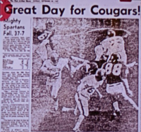 UH 37 - Michigan State 7. East Lansing, Michigan September 23, 1967