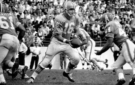 George Blanda (#16), QB of the 1960 Houston Oilers