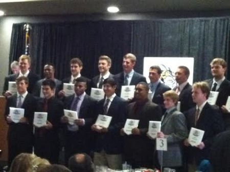 The 2014 Pre-Season HS All Stars were honored publicly because the Skeeters Banquet happened.