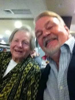 """Red Mahoney and Mike McCroskey shared a """"selfie"""" moment."""