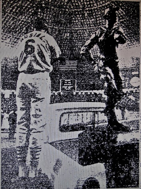 August 20, 1966: Stan Musial presided over the dedication of the Dickie Kerr Statue at the Astrodome in Houston.