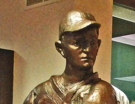 Bust View of the Dickie Kerr Statue.