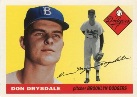 DON DRYSDALE 1963 WINNER DICKIE KERR AWARD