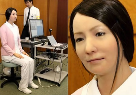 Robot Nurse Model A3452 Made in Japan Human in a Creepy Sort of Way