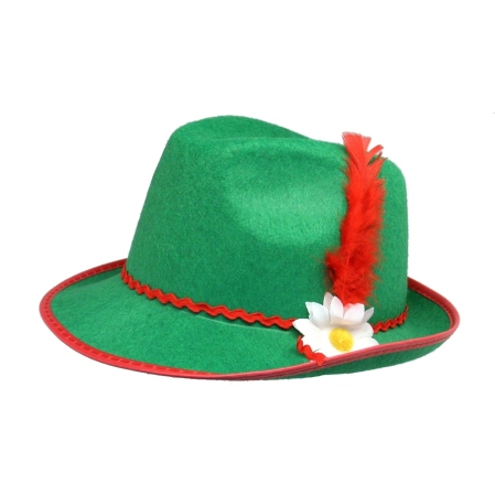 "Did the Tyrolean hat that turned writer Mary H. Brown into a serious George Kirksey fan resemble this green felt model? If so, maybe her ""Pap"" was secretly happy to let her have it!"