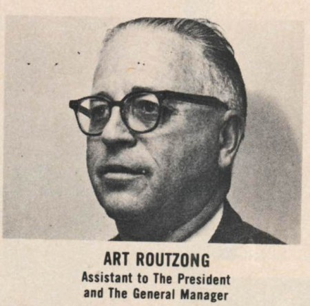 Art Routzong also had executiveexperience with the Houston Buffs and the St. Louis Cardinals before joining the HSA staff.