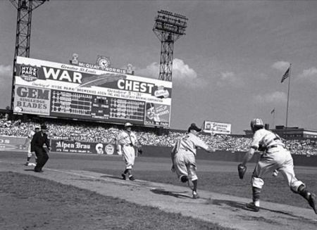 A St. Louis Browns Home Game Sportman's Park, St. Louis Sometime during WWII ~ But what are the other details?