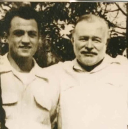 Ernest Hemingway and former Houston Buff Jim Basso Spring Training 1952 Vest Tuba
