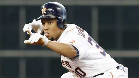 Carlos Gomez Center Fielder 2016 Houston Astros