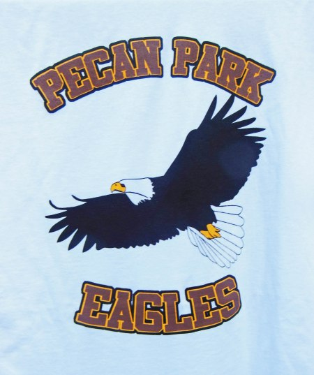 Logo of My new Pecan Park Eagle Tee Shirt ~ Designed and Produces as a Gift of Love from my Brother, John McCurdy of Beeville, Texas.