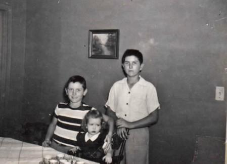 John, Margie, & Bill McCurdy Margie's 2nd Birthday August 19, 1951 (Same Day Eddie Gaedel Came to Bat in St. Louis.)
