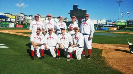 On Friday, June 10, 2016, the Bark Red Sox defeated the Houston Babies, 10-3, in a game of vintage baseball played at Constellation Field in Sugar Land prior to the regulation professional game of the Sugar Land Skeeters at the city's Constellation Field. A good time was had by all.