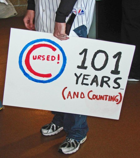 Now it''s 2016 and the Cubbbie Countdown is 108 years to the real possibility of a World Series appearance this year.