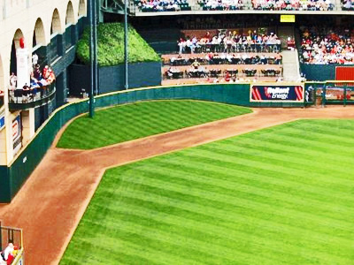 Our Current View of Deep Center Minute Maid Park By The Pecan Park Eagle