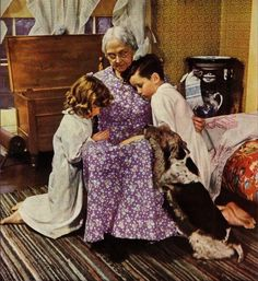 Grandmas know we should have a snack before bedtime - and the say goodnight prayers with us - even when we've acted bad.