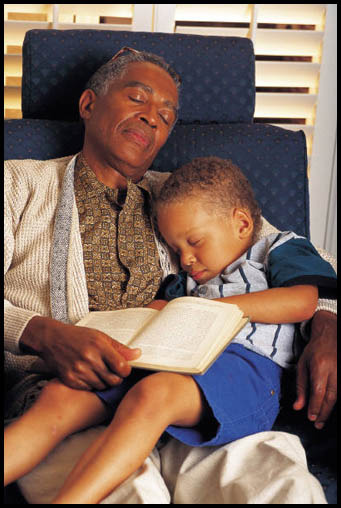 When grandparents read to us they don't skip. They don't mind if we ask for the same story over and over and over again.
