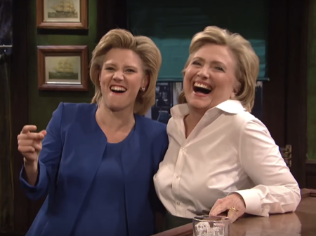 Comic Kate McKinnon and Hillary Clinton - Saturday Night Live, 2016