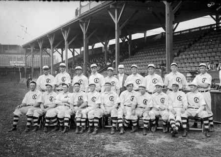 The 1908 Chicago Cubs (We Think.) The Last Cubs Team to Win a World Series Provided by Miriam Edelman