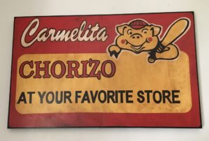 Sponsor of the Carmelita Chorizos East Los Angeles, CA Early 1970's