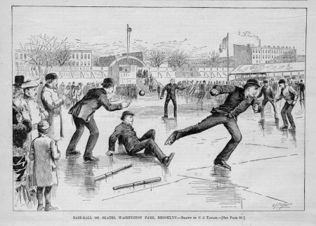 An Ice Ball Game in Brooklyn Circa 1861