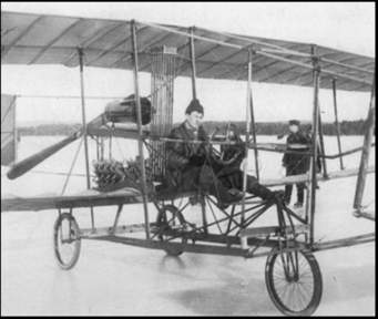 Douglas McCurdy in the Silver Dart 1st Canadian To Fly Baddeck, Nova Scotia January 9, 1909
