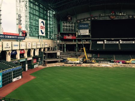 CF Reconfiguration Work Minute Maid Park December 2016