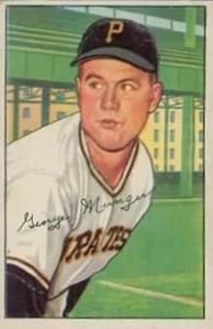 RED MUNGER Pittsburgh Pirates 1952, 1956