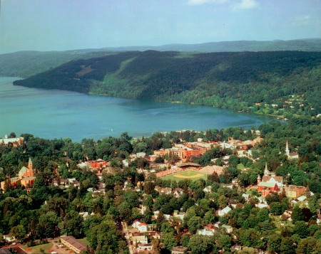 Cooperstown aerial view.
