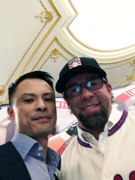 Dr. Kevin Gee and Jeff Bagwell In HOF Jersey) NYC Media Day, 1/19/2017 Selfie by Dr. Kevin Gee