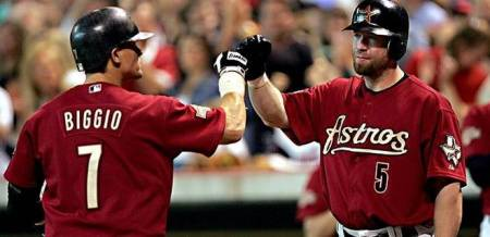Craig Biggio and Jeff Bagwell 100% Hall of Fame 100% Houston Astros 100% Class