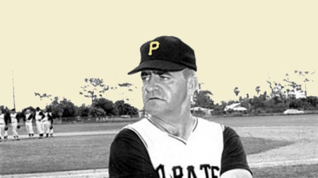 DANNY MURTAUGH MANAGER 1960 WORLDS SERIES CHAMPIONS THE PITTSBURGH PIRATES Is this really the face of a man who would get into a dispute of judgement by a game umpire?