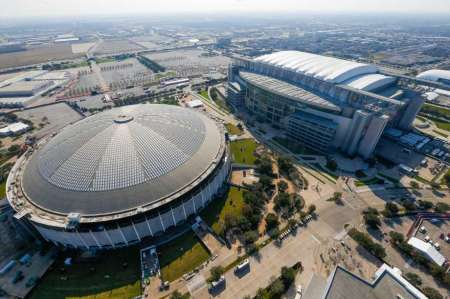 The Astrodome and NRG Stadium