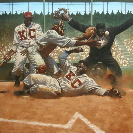 A Painting of Jackie Robinson By Kadr Nelso