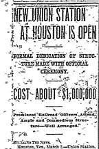 Union Station Story Headlines Dallas Morning News March 3, 1911